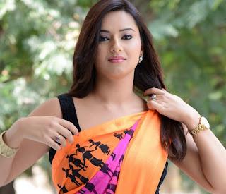 Isha-Chawla-colorful-saree