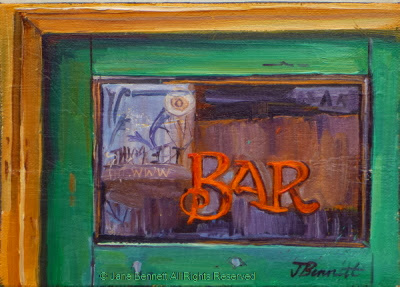 Plein air oil painting of the Terminus Hotel in  Pyrmont  by industrial heritage artist Jane Bennett