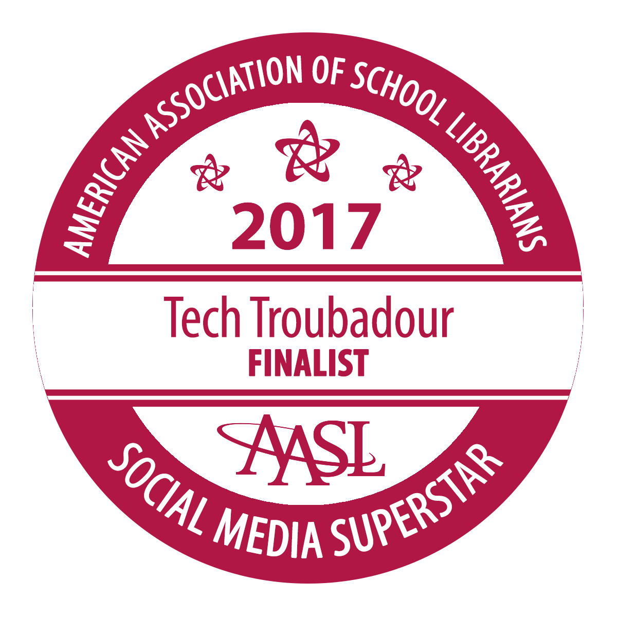 Excited To Be A 2017 AASL Social Media Superstar Finalist!
