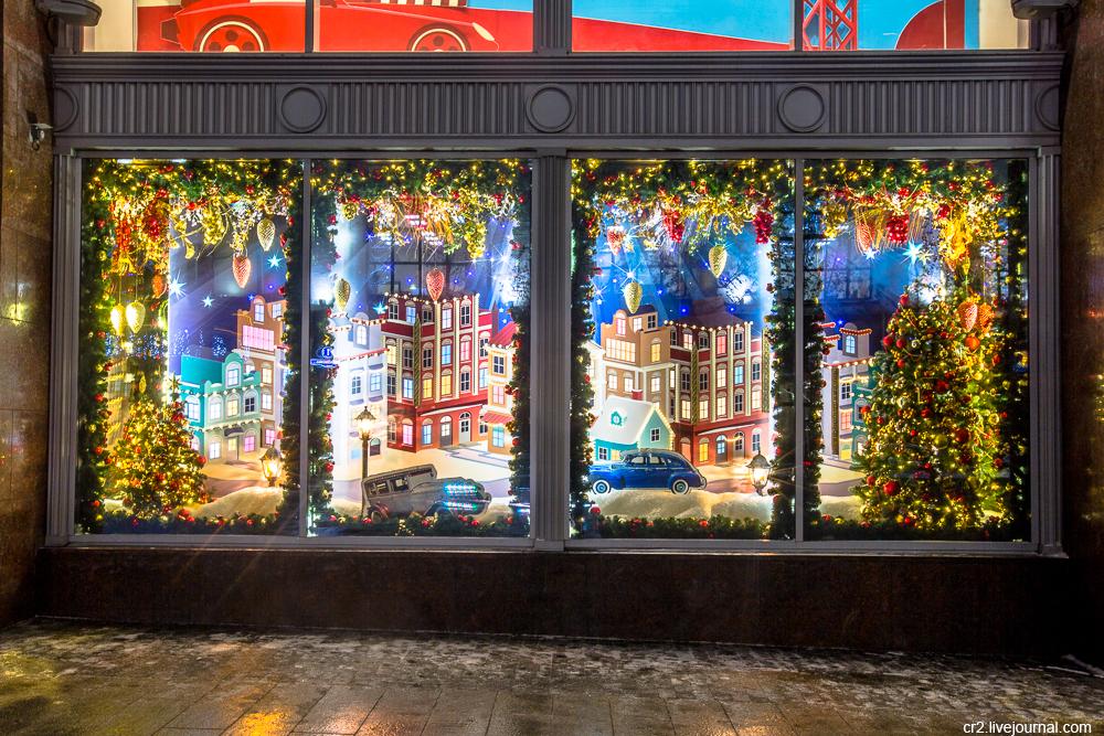 новогодняя витрина для магазина картинки