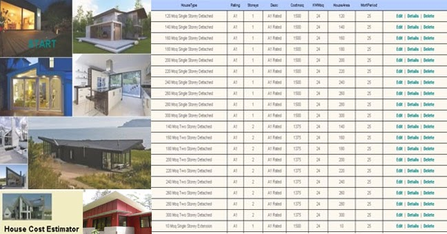 House construction cost calculator engineering society for Home building cost estimator