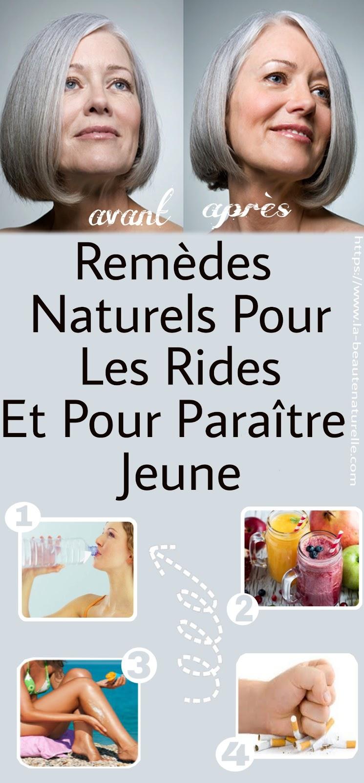 Remèdes Naturels Pour Les Rides Et Pour Paraître Jeune