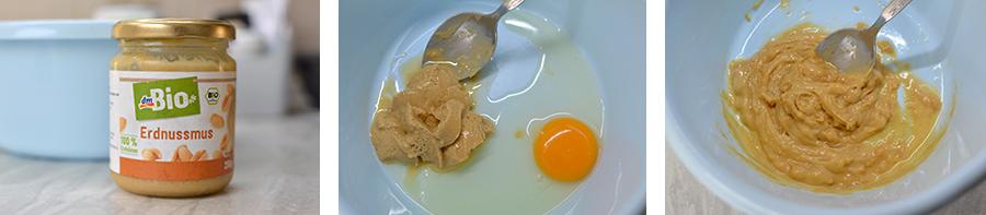Rezept: Erdnussmus Kekse Hundeleckerli Hundeleckerchen  für Hunde backen