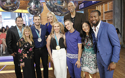 The cast for Dancing With the Stars all-athlete edition.