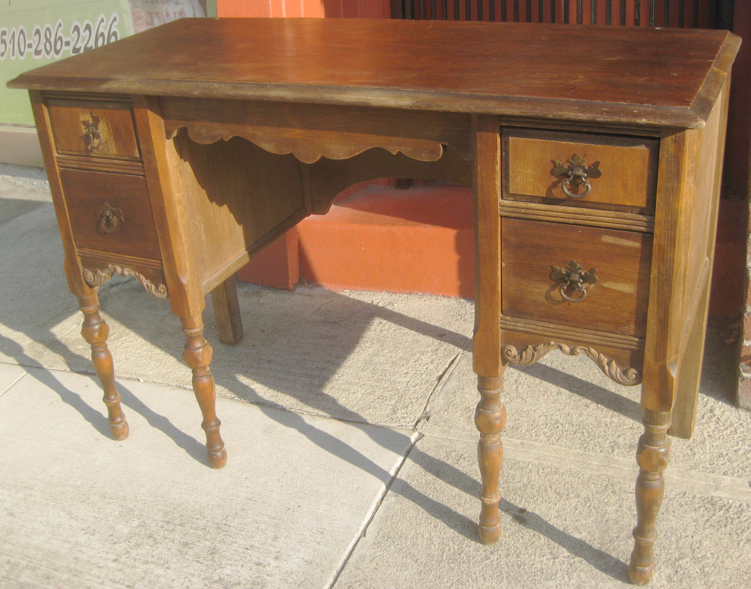 UHURU FURNITURE & COLLECTIBLES: SOLD - Small Wooden Desk - $65