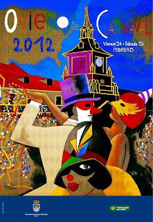 Cartel del carnaval de Oviedo 2012