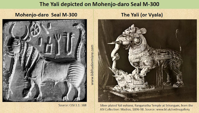 The composite animal Yali or Vyala depicted on Indus Seal M-300