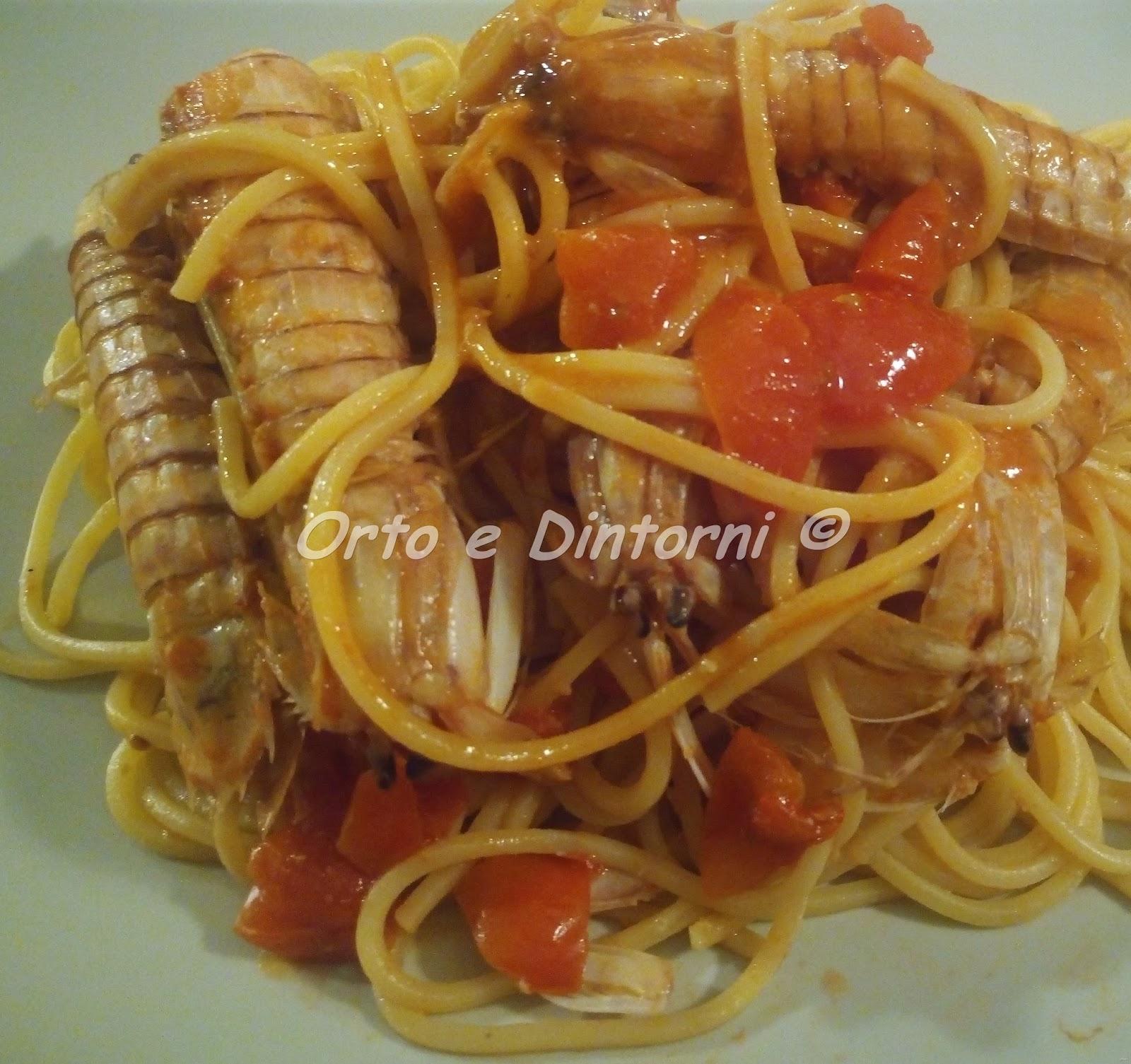 Orto e Dintorni Spaghetti con le canocchie o cicale di mare
