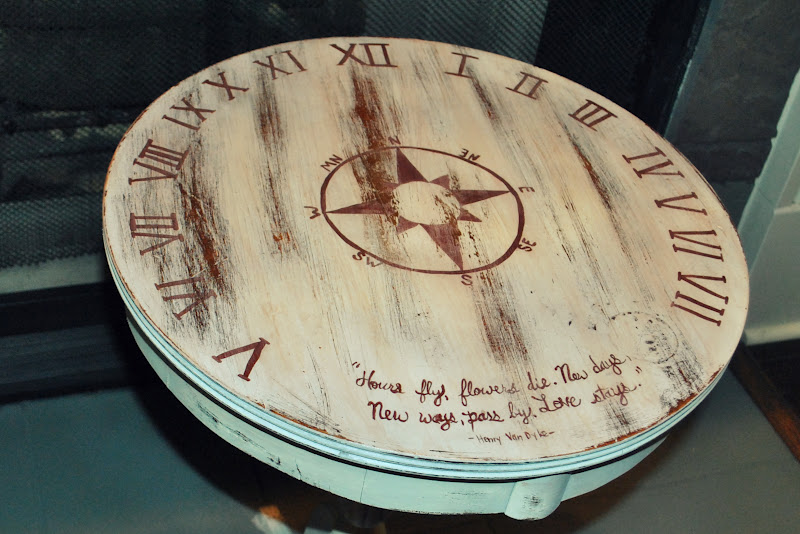 Amazing Grays: Sun Dial Side Table