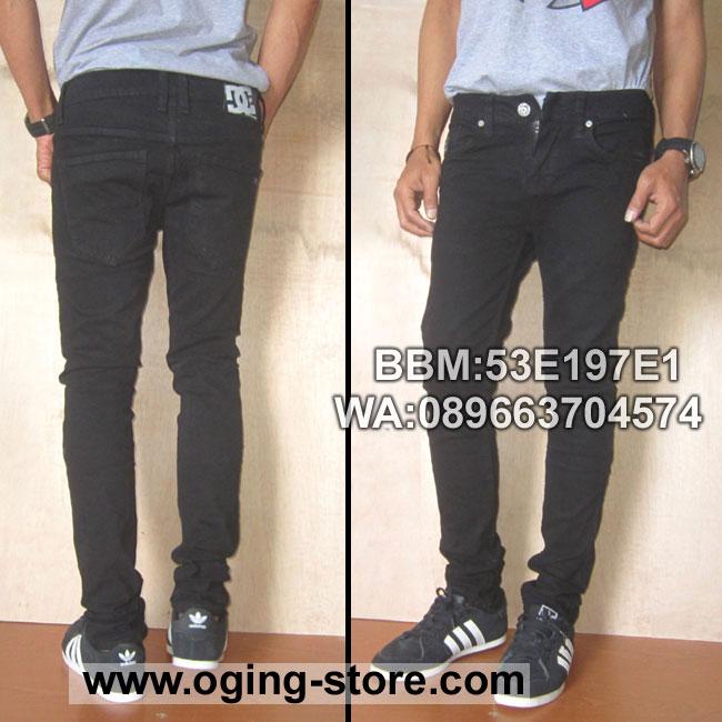 celana Jeans skinny-DC-Hitam