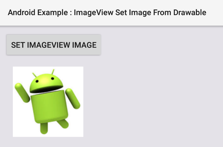 How to set ImageView image from drawable in Android