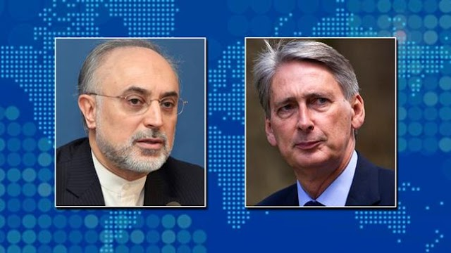 Ali Akbar Salehi and Philip Hammond discuss restrictions facing Iran banking sector
