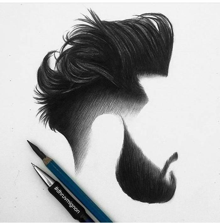 Cortes de cabelo para 2018: pompadour corte de cabelo tendência