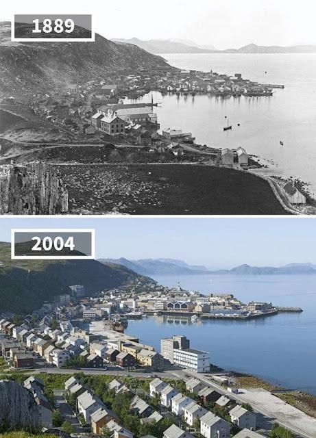 Antes y después Hammerfest, Noruega