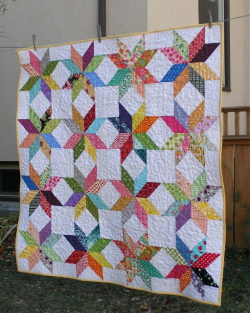 Starflower Quilt - Tutorial