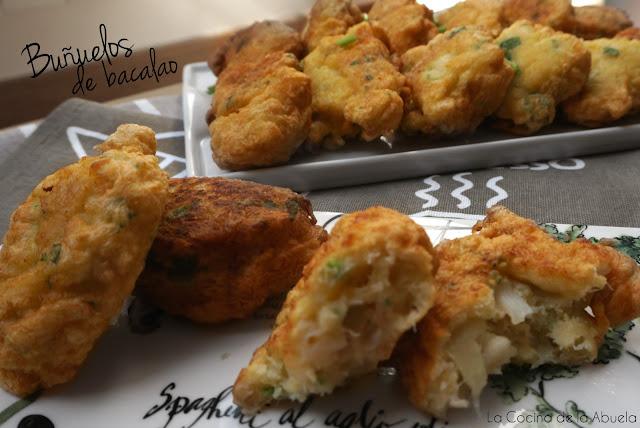 Buñuelos Bacalao Receta Casera Fácil Cocina Abuela
