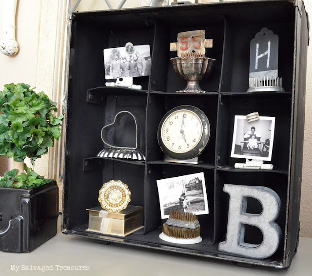 Turn an old carrying case into a cool display