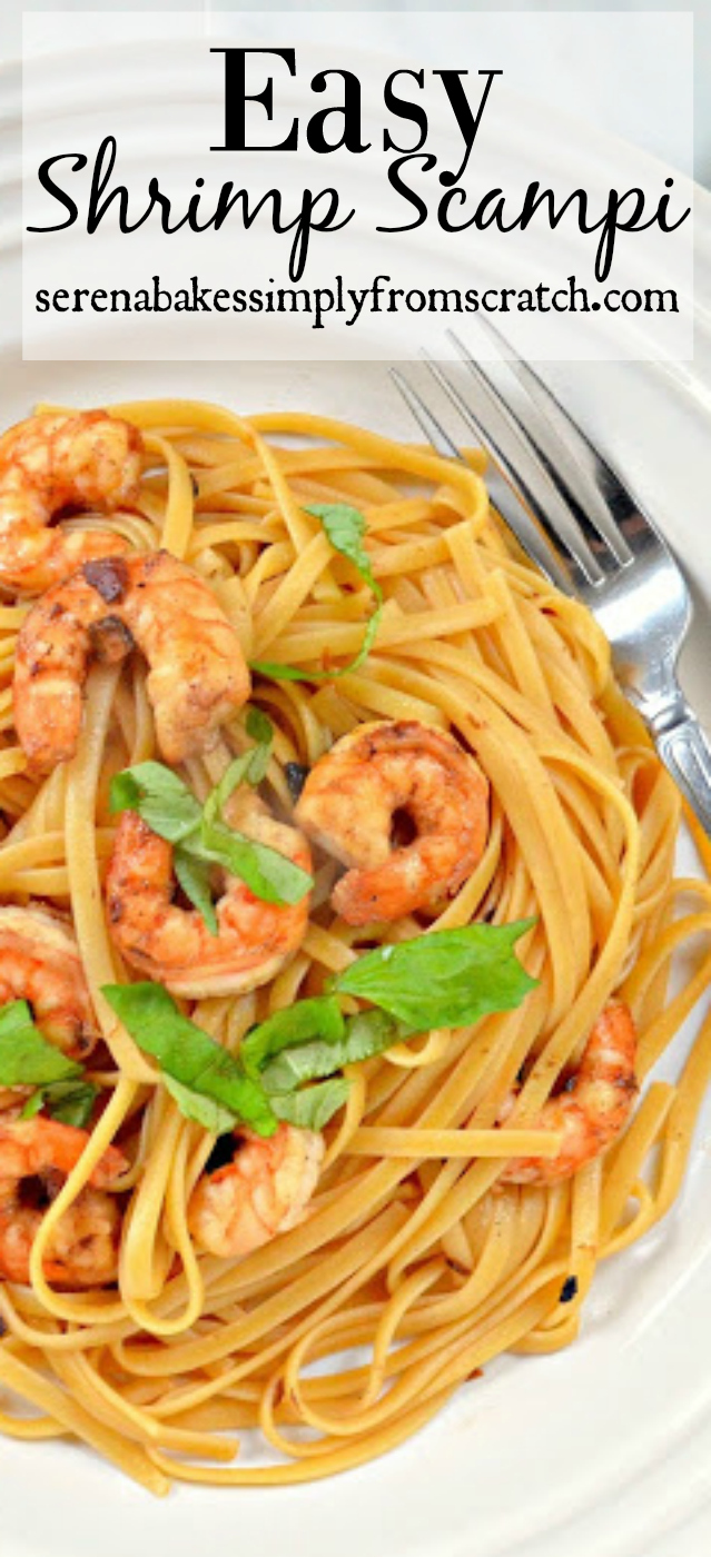 Easy to make Shrimp Scampis is so good! serenabakessimplyfromscratch.com