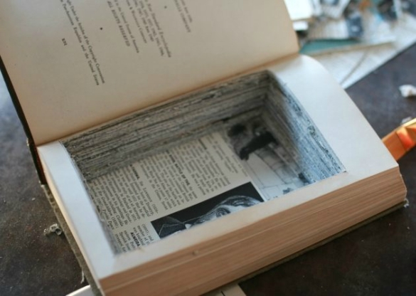 Over On Ehow Diy Hollow Book Safe 17 Apart