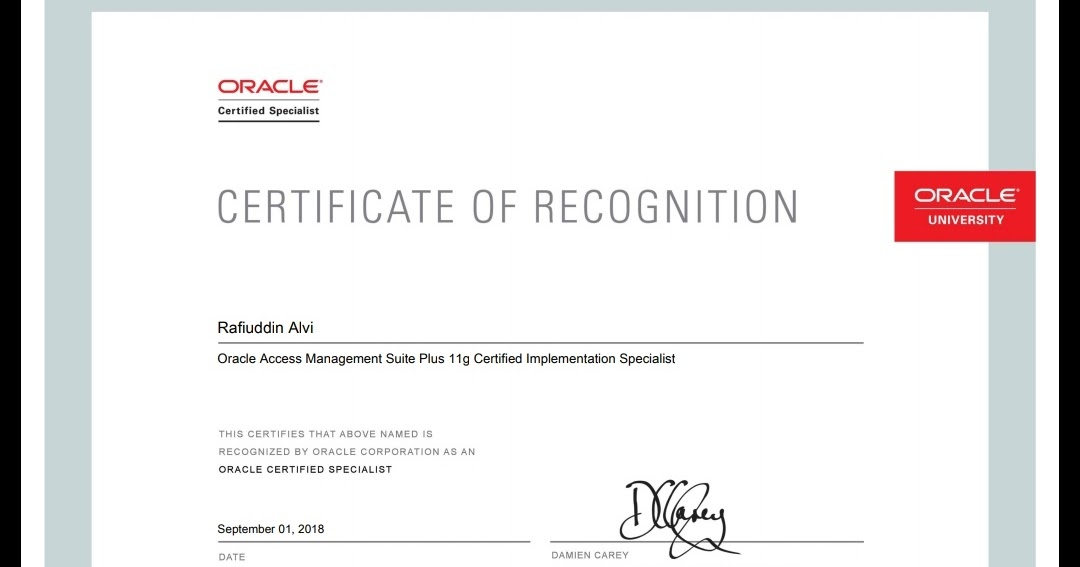Rafi ORACLE DBA & APPS DBA Blog*******: Completed Oracle Access ...