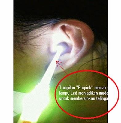 Jual Pembersih Telinga ''EARPICK'' dengan Lampu LED