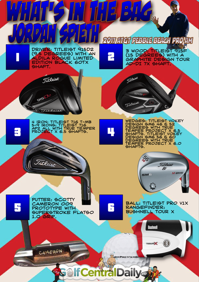 Jordan Spieth WITB winning equipment Infographic 2017