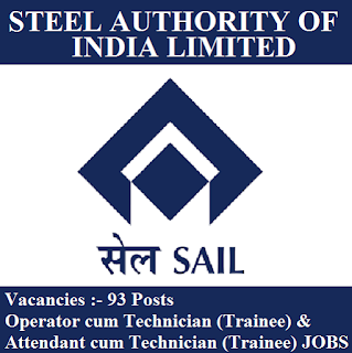 Steel Authority of India Limited, SAIL, Chhattisgarh, 10th, ITI, Trainee, Operator, Attendant, freejobalert, Sarkari Naukri, Latest Jobs, sail logo