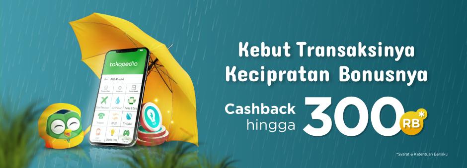 Tokopedia - Promo Voucher Cashback s/d 300Ribu Produk Digital (s.d 7 Nov 2018)