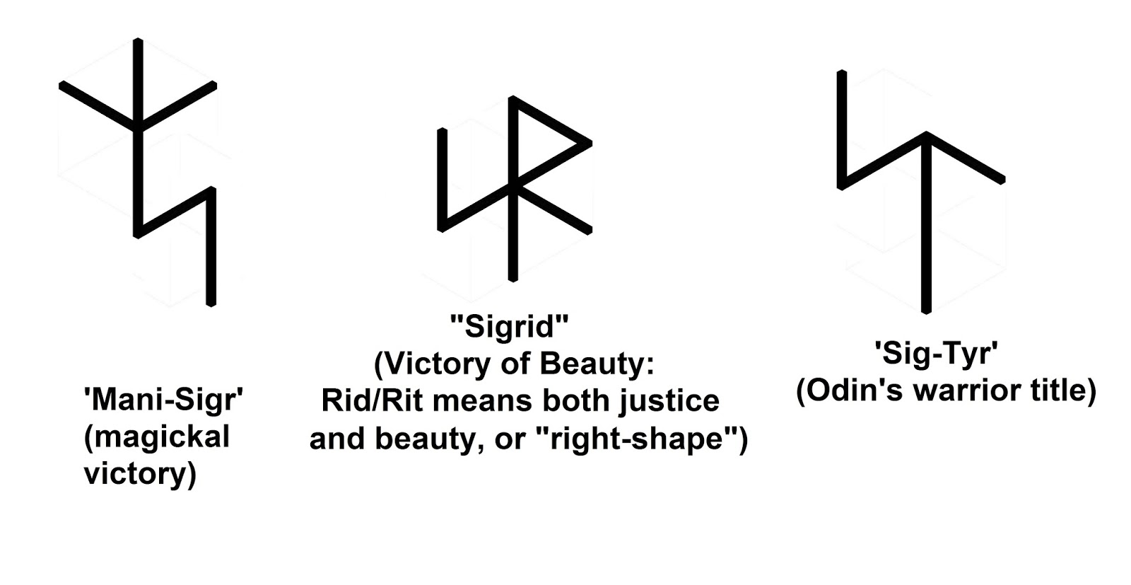 Real rune magick the esoteric praxis of bind runes armanen bind runes using sig the center symbol sigrid is a female name with valkyrie connotations in addition to being a rune spell for the augmentation buycottarizona Choice Image