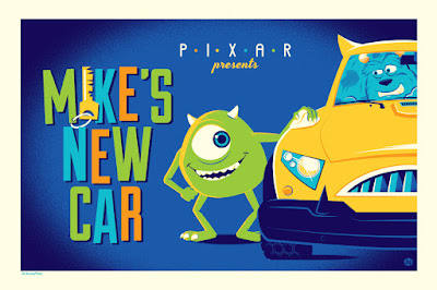 Mike's New Car Pixar Short Variant Screen Print by Dave Perillo x Cyclops Print Works x Disney