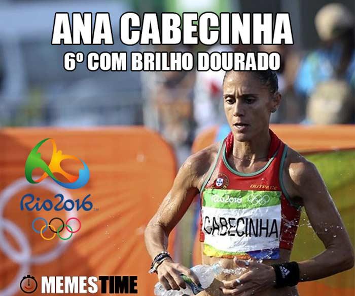 Memes Time Ana Cabecinha em 20 km Marcha no Rio 2016 – 6º com Brilho Dourado