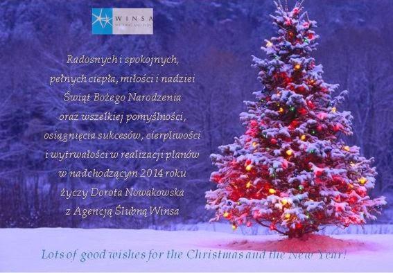 Życzenia na Święta Bożego Narodzenia, Boże Narodzenie, Nowy Rok, Agencja Ślubna Winsa, Życzenia, Święta