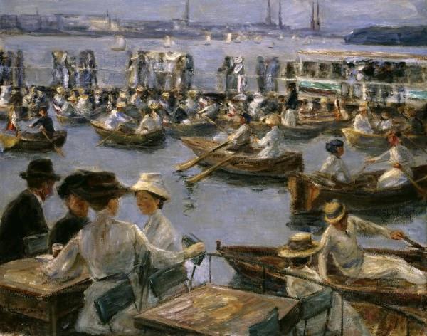 Max Liebermann - Junto al Alster - 1910