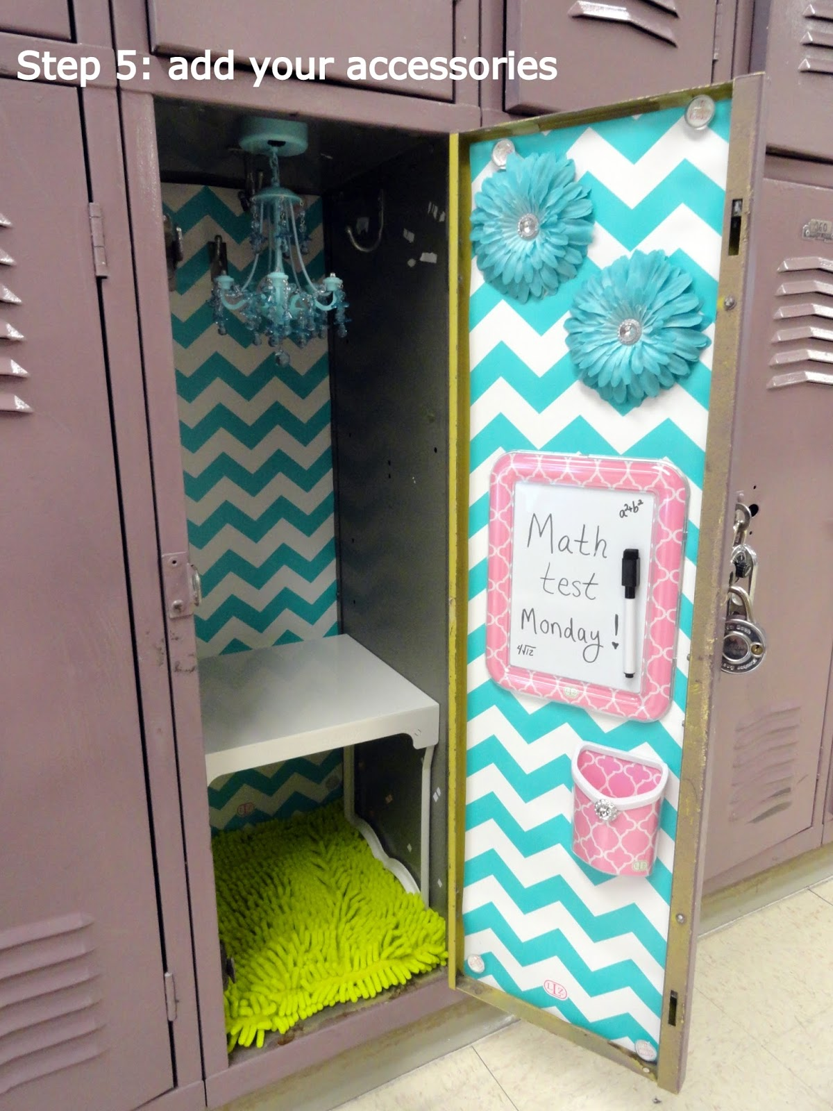 5 simple steps to decorating a fabulous locker with locker for Decorative lockers for kids rooms