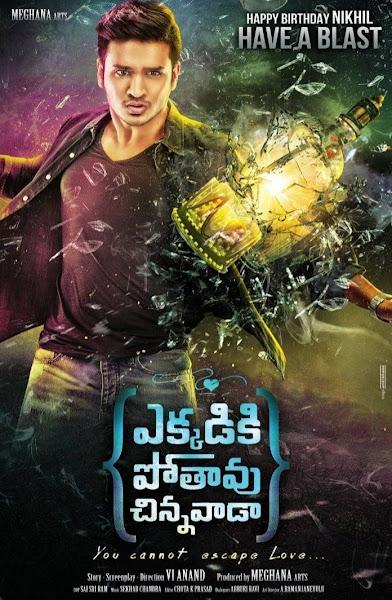 Poster of Ekkadiki (Ekkadiki Pothavu Chinnavada) 2017 Hindi Dubbed 720p HDRip Download