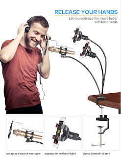 Tavolo professionale di Registrazione Microfonica, Microfono supporto Del Basamento Con Due Cellulare Holder KH-28