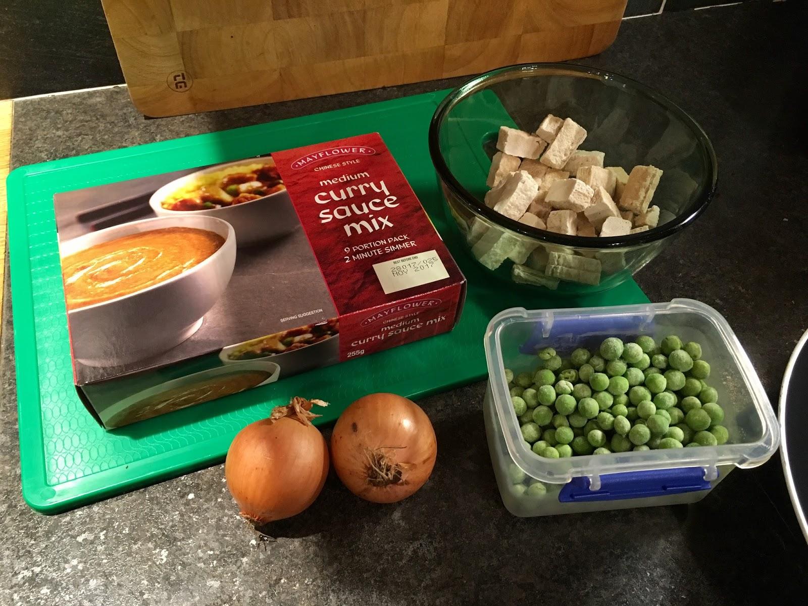 Katie Brook Vegan Chinese Style Chicken Curry Recipe