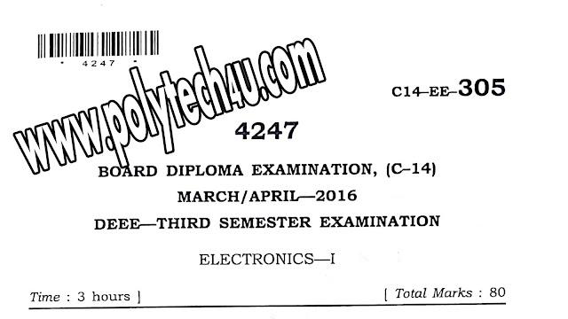MARCH-APRIL-2016 305-C-14 ELECTRONIC QUESTION PAPER
