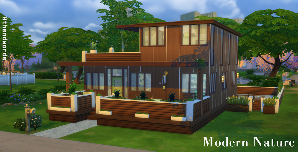 Athsndwords Sims 4 Designs: Modern Nature