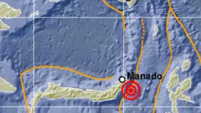 Gempa Bumi Tektonik Berkisar m-4,9 Hari Ini Mengguncang Sulawesi Utara Tidak Berpotensi Tsunami