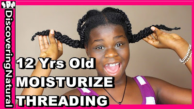How To Moisturize Natural Hair in African Threading Hairstyles