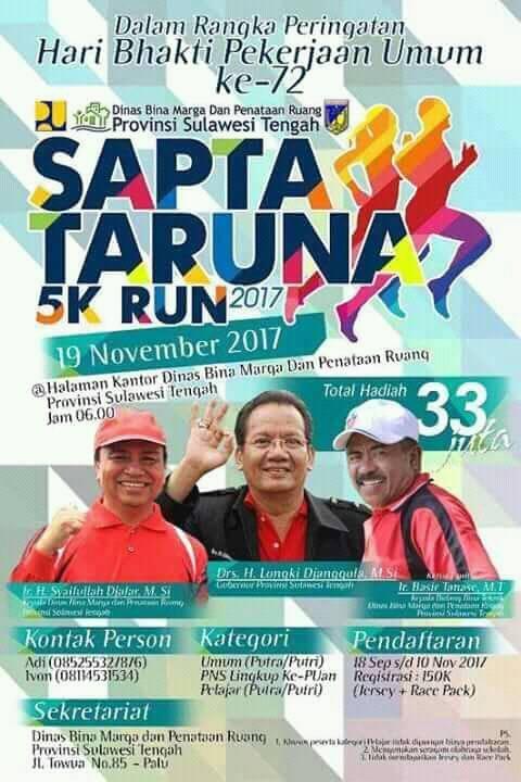 Sapta Taruna 5K Run • 2017 Poster