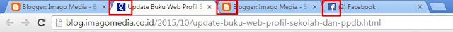 Icon Pada Tab Browser Yang menampilkan icon sebuah image