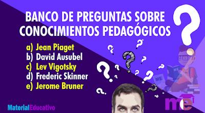 BANCO DE PREGUNTAS SOBRE CONOCIMIENTOS PEDAGÓGICOS (VIDEO