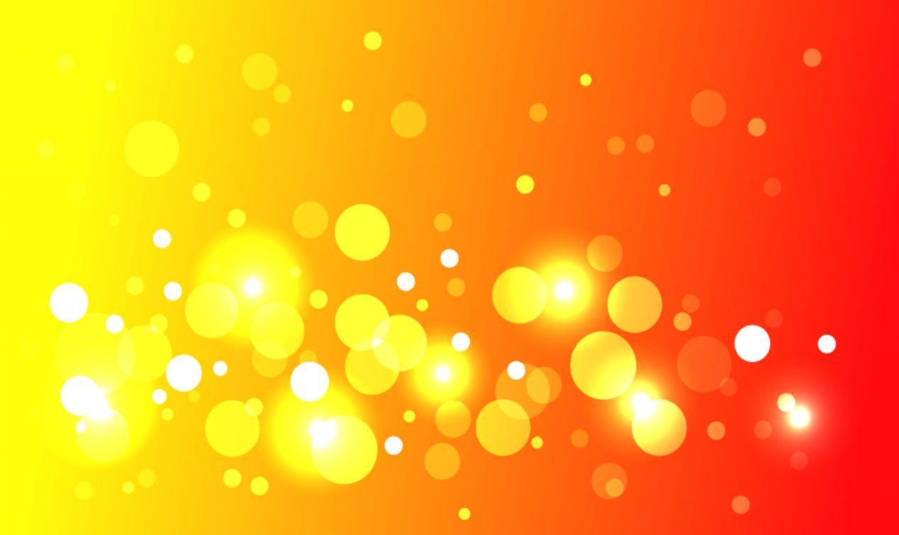 Beautiful Orange Vector Abstract Wallpaper