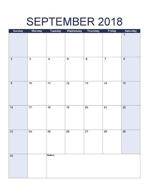 September 2018 Printable Calendar, September 2018 Blank Calendar, September 2018 Calendar Template, September 2018 Calendar Printable, September 2018 Calendar, September Calendar 2018, Calendar, Print September Calendar 2018, Calendar 2018 September, September Templates Calendar 2018