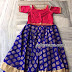 Blue lehengs Pink Crop Top