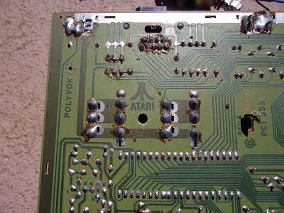Placa PCB do Atari 2600 da Polyvox