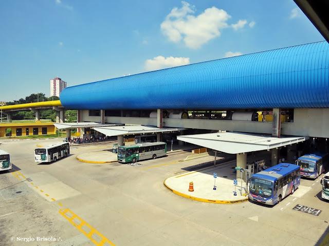 Vista ampla do Terminal Sacomã - Ipiranga - São Paulo