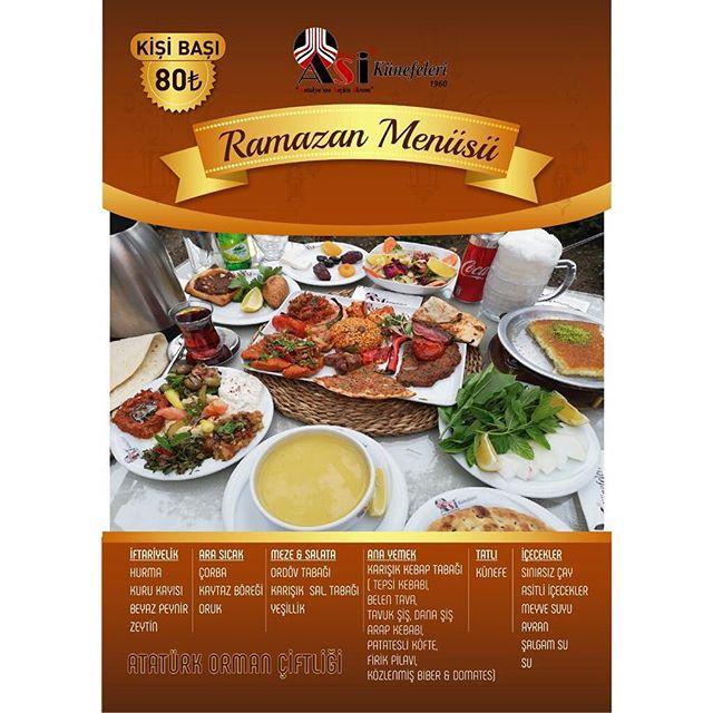 asi künefe fiyatları ankara ramazan menüleri ankara ramazan fix menü  ankara iftar mekanları